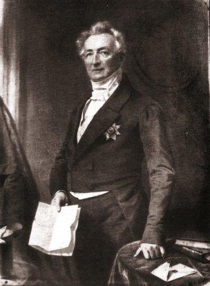 Carl Wilhelm Georg Graf zu Inn- und Knyphausen (1784– 1860) Kgl. Hannov. Gesandter Gemälde von Franz Krüger 1852 in Lütetsburg, 1893 verbrannt
