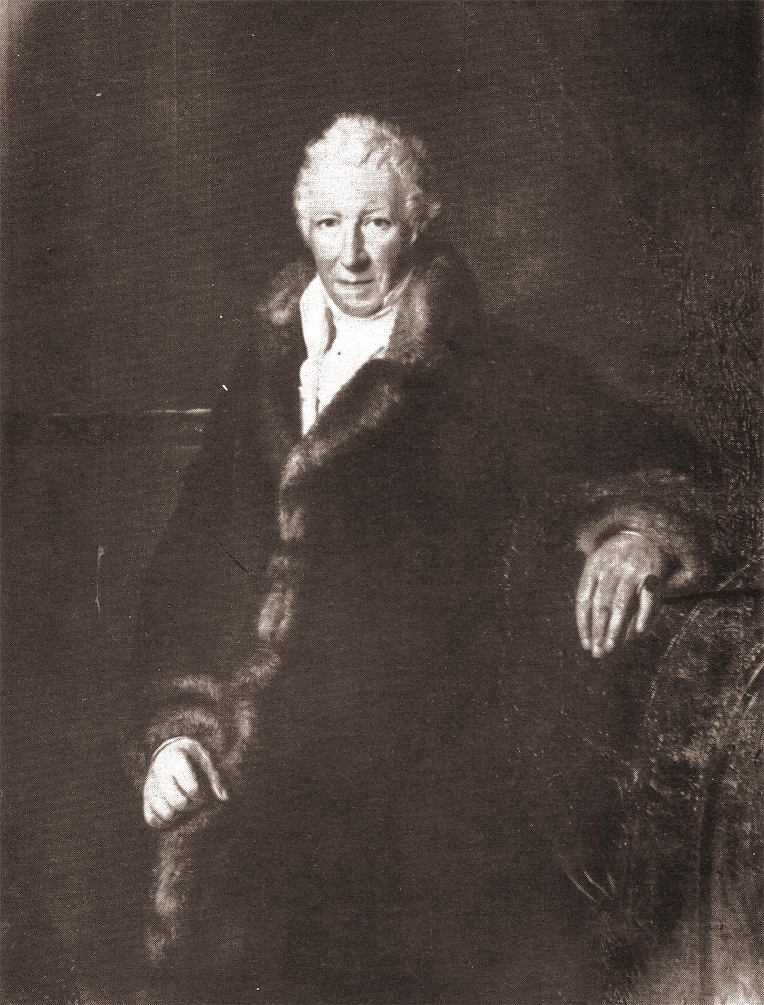 Edzard Mauritz Graf zu Inn- und Knyphausen (1748 – 1824) Präsident der ostfriesischen Stände und Gestalter des Lütetsburger Parks Gemälde von Tiedemann in Lütetsburg, 1893 verbrannt