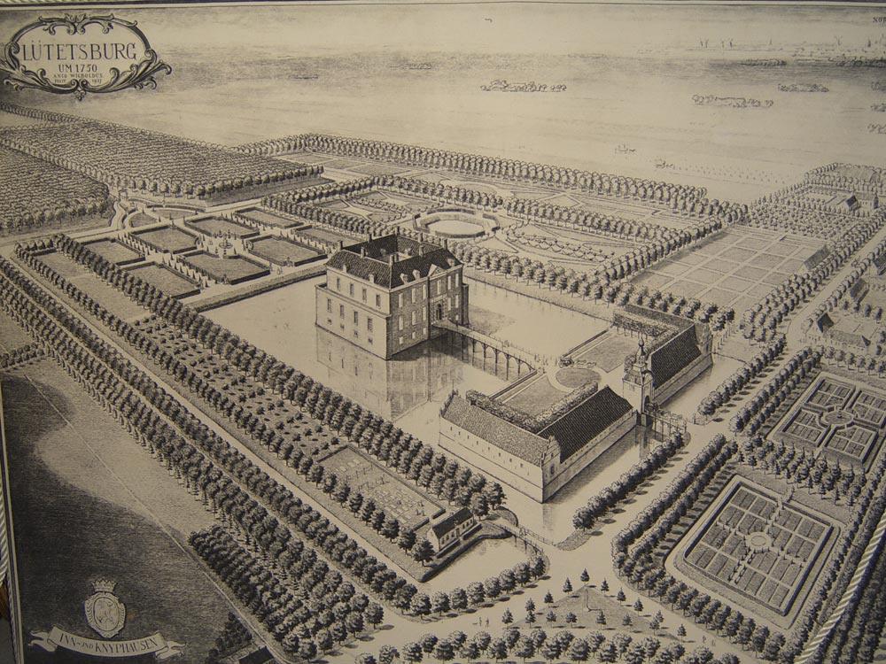 Das Schloss im Jahre 1750