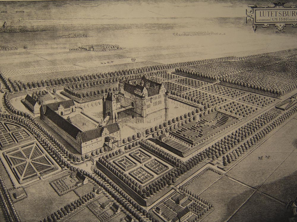 Das Schloss im Jahre 1580