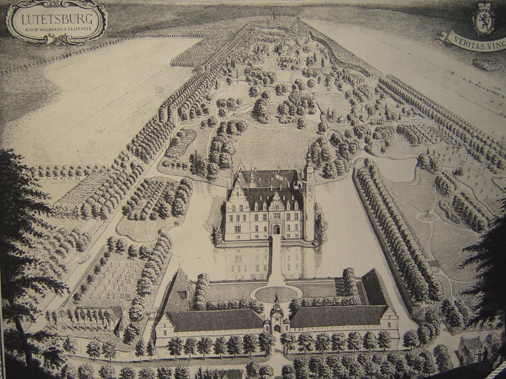 Das Schloss im Jahre 1935